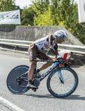 De Fietser Jean-Christophe Peraud - Ronde van Frankrijk 2014 Stock Fotografie