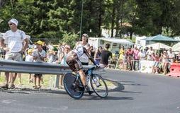 De Fietser Jean-Christophe Peraud - Ronde van Frankrijk 2014 Stock Afbeelding