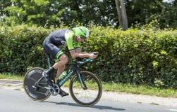 De Fietser Lars Boom - Ronde van Frankrijk 2014 Royalty-vrije Stock Foto