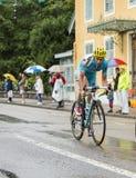 De Fietser Lieuwe Westra - Ronde van Frankrijk 2014 Stock Foto's