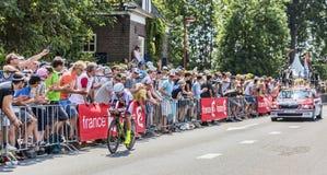 De Fietser Luca Paolini - Ronde van Frankrijk 2015 Royalty-vrije Stock Afbeeldingen
