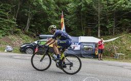 De Fietser Michael Albasini - Ronde van Frankrijk 2017 royalty-vrije stock foto's