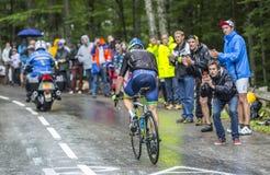 De Fietser Michael Albasini - Ronde van Frankrijk 2014 Stock Afbeeldingen