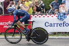 De Fietser Nairo Quintana - Ronde van Frankrijk 2015 Royalty-vrije Stock Foto