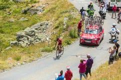 De Fietser Nicolas Edet - Ronde van Frankrijk 2015 Royalty-vrije Stock Foto's