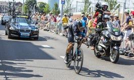 De Fietser Nicolas Roche - Ronde van Frankrijk 2015 Stock Foto's