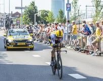 De Fietser Paul Martens - Ronde van Frankrijk 2015 Stock Fotografie