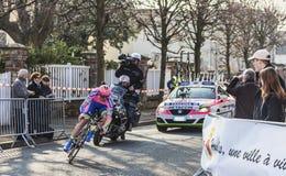 De fietser Petacchi Alessandro Parijs Nice 2013 P Stock Afbeelding