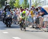 De Fietser Peter Sagan - Ronde van Frankrijk 2015 Royalty-vrije Stock Foto's