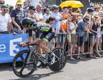 De Fietser Pierre-Luc Perichon - Ronde van Frankrijk 2015 Stock Fotografie