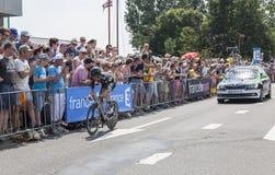 De Fietser Pierre-Luc Perichon - Ronde van Frankrijk 2015 Stock Afbeeldingen