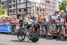 De Fietser Pierre-Luc Perichon - Ronde van Frankrijk 2015 Royalty-vrije Stock Foto's