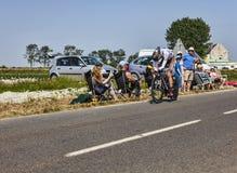 De fietser Romain Bardet Royalty-vrije Stock Afbeeldingen