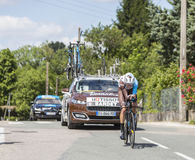 De Fietser Romain Bardet - Criterium du Dauphine 2017 Stock Afbeeldingen