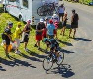 De Fietser Sergio Henao - Ronde van Frankrijk 2016 Stock Foto's