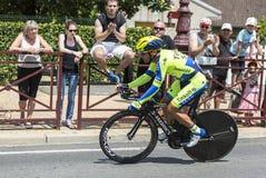 De Fietser Sergio Paulinho - Ronde van Frankrijk 2014 Royalty-vrije Stock Fotografie