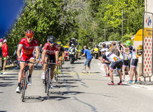 De Fietser Thomas De Gendt op Mont Ventoux - Ronde van Frankrijk 201 Royalty-vrije Stock Foto