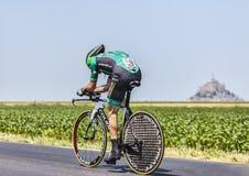 De fietser Thomas Voeckler Stock Afbeelding