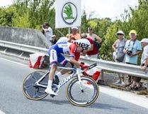 De Fietser Tom Dumoulin - Ronde van Frankrijk 2014 Stock Foto
