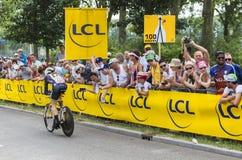 De Fietser Tyler Farrar - Ronde van Frankrijk 2015 Royalty-vrije Stock Fotografie