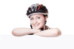De fietser van de vrouw Stock Fotografie