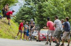 De Fietser Warren Barguil - Ronde van Frankrijk 2017 Stock Afbeeldingen