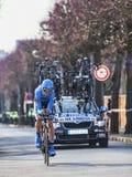 De fietserbestelwagen summeren de Proloog van Johan Parijs Nice 2013 in Houi Stock Afbeelding