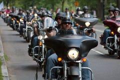 De fietsers berijden Royalty-vrije Stock Foto