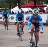 De fietsers bij Proloog voor de Reis van Albserta rennen Stock Foto
