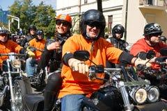 De fietsers paraderen Royalty-vrije Stock Foto's