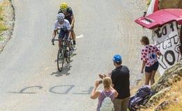 De Fietsers Quintana en Valverde - Ronde van Frankrijk 2015 Stock Afbeeldingen