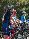 De fietsers rennen Stock Foto