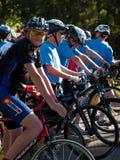 De fietsers rennen Royalty-vrije Stock Afbeeldingen