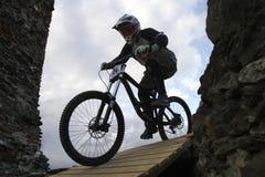 De fietsers van de berg Stock Fotografie
