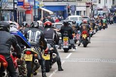 De fietsers van de meidag verzamelen, Hastings Royalty-vrije Stock Fotografie