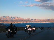 De fietsers van Vegas Stock Fotografie