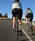 De fietsers van vrouwen Royalty-vrije Stock Afbeeldingen
