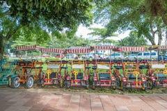 De fietshuur voor publiek in Titiwangsa-Meertuinen, het is een recreatief park met een groot meer als zijn hoofdaantrekkelijkheid royalty-vrije stock fotografie