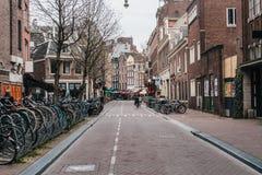 De fietsparkeren van Amsterdam royalty-vrije stock afbeelding