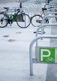 Het parkeren van de fiets Stock Afbeelding