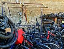 De fietsworkshop Stock Fotografie