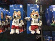 De FIFA loja 2018 de lembrança Keyholders de Zabivaka moscow Fotos de Stock Royalty Free