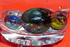 De fijne kunst van glas marmeren ballen Stock Afbeelding