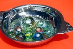 De fijne kunst van glas marmeren ballen Royalty-vrije Stock Afbeeldingen
