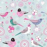 De fijne vogels van de textuur vector illustratie