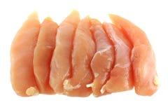 De Filet van de Borst van de kip die op wit wordt geïsoleerdg Royalty-vrije Stock Foto's