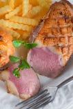 De filet van de gansborst Stock Fotografie