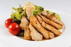 De filet van de kip met groenten Stock Afbeelding