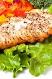 De filet van vissen en groenten Stock Foto