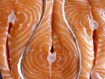 De filets van Salmons stock afbeeldingen